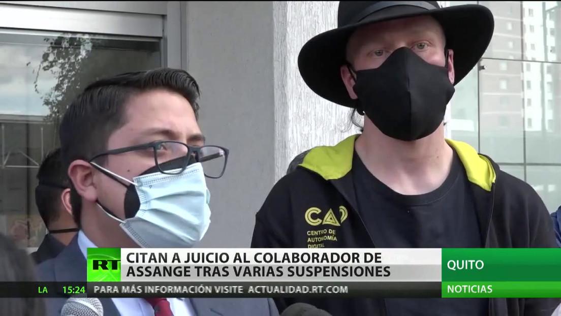 Ecuador cita a juicio al colaborador de Assange, Ola Bini