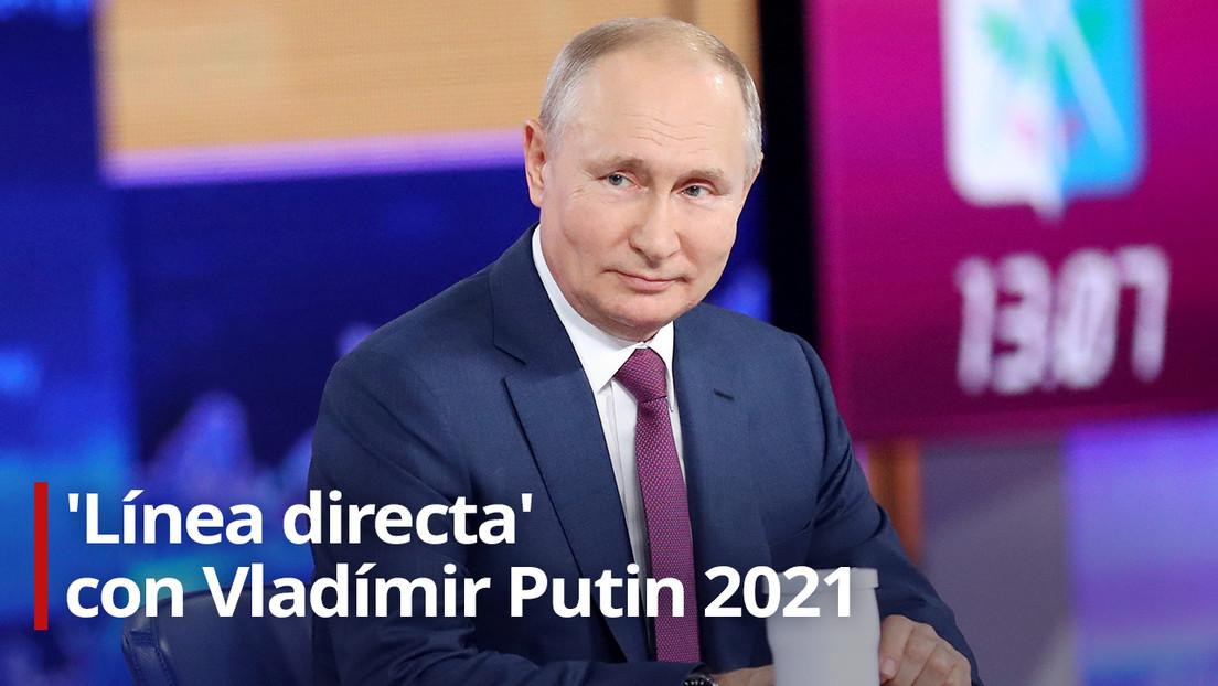 VIDEO: Vladímir Putin responde a las preguntas de los ciudadanos rusos en 'Línea directa'