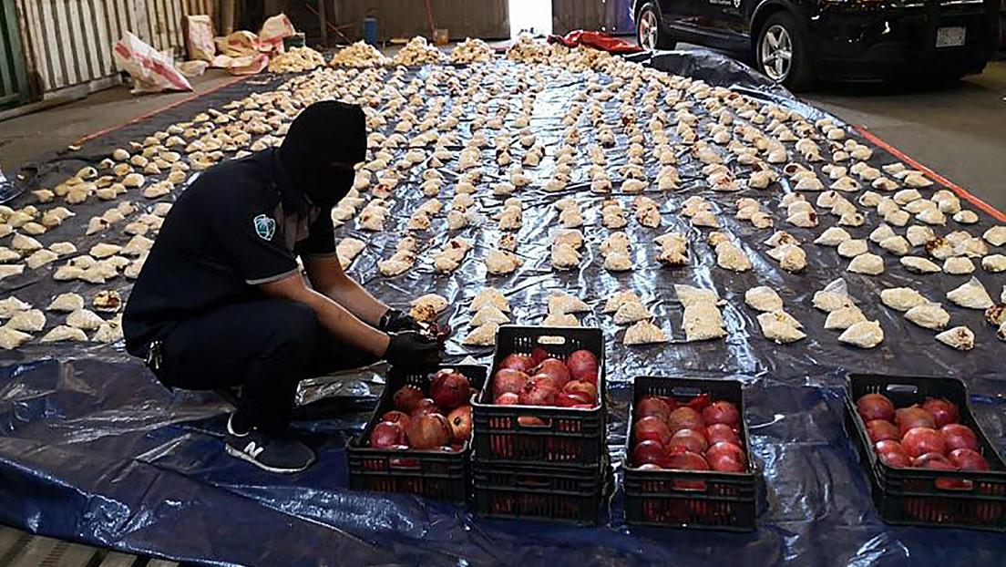 Arabia Saudita detiene un intento de contrabando de 4,5 millones de pastillas de anfetamina dentro de cajas de naranjas