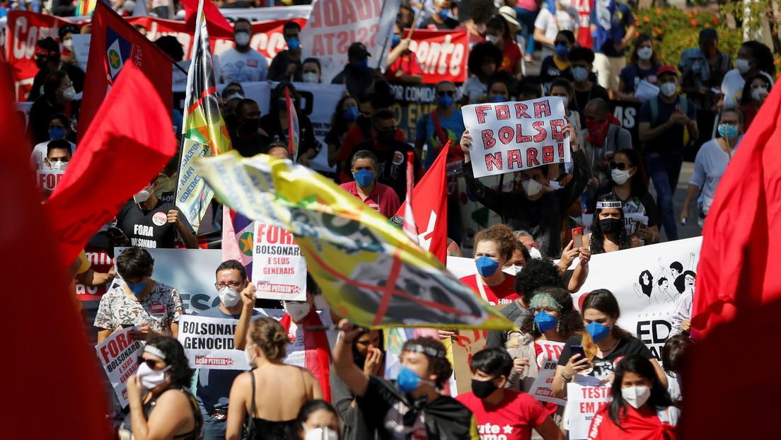 Partidos políticos y entidades presentan ante la Cámara de Diputados de Brasil un superpedido de 'impeachment' contra Bolsonaro