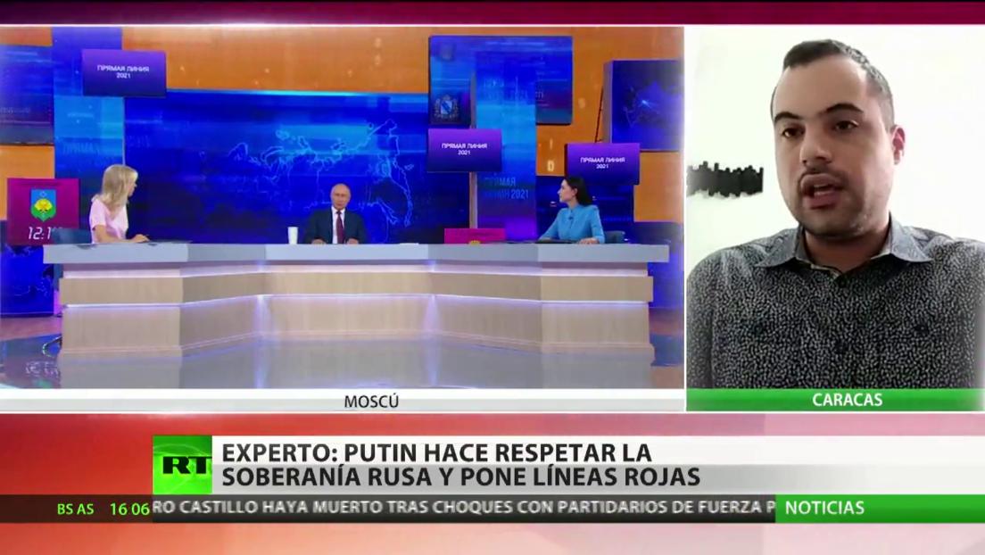"""Politólogo afirma que Putin hace respetar la soberanía de Rusia y traza """"una línea roja que no puede pasar Occidente"""""""