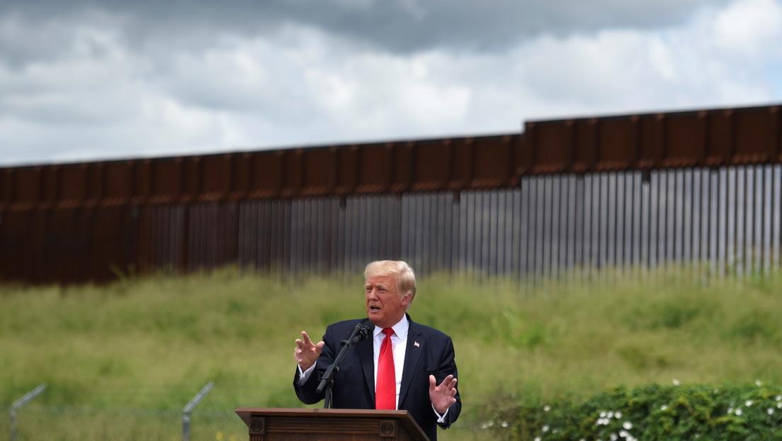 """Trump carga contra Biden por """"destruir"""" EE.UU. y dice que cuando este canceló el muro fronterizo, quedaban pocos meses para que """"fuera pintado"""""""