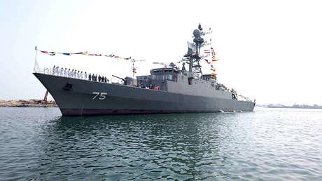 La Armada iraní recibe un nuevo dragaminas y un destructor, capaz de eliminar las amenazas aéreas, terrestres y subterráneas
