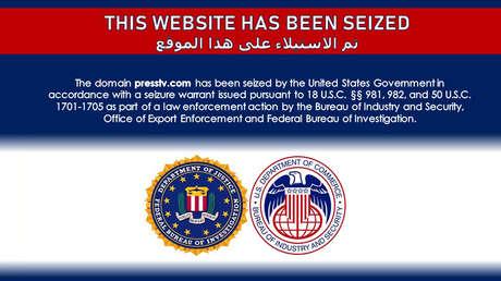 EE.UU. bloquea la página web de Press TV, de otro medio iraní y uno yemení