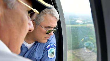 Iván Duque denuncia un atentado contra el helicóptero en el que viajaba  tras un ataque con armas de fuego - RT