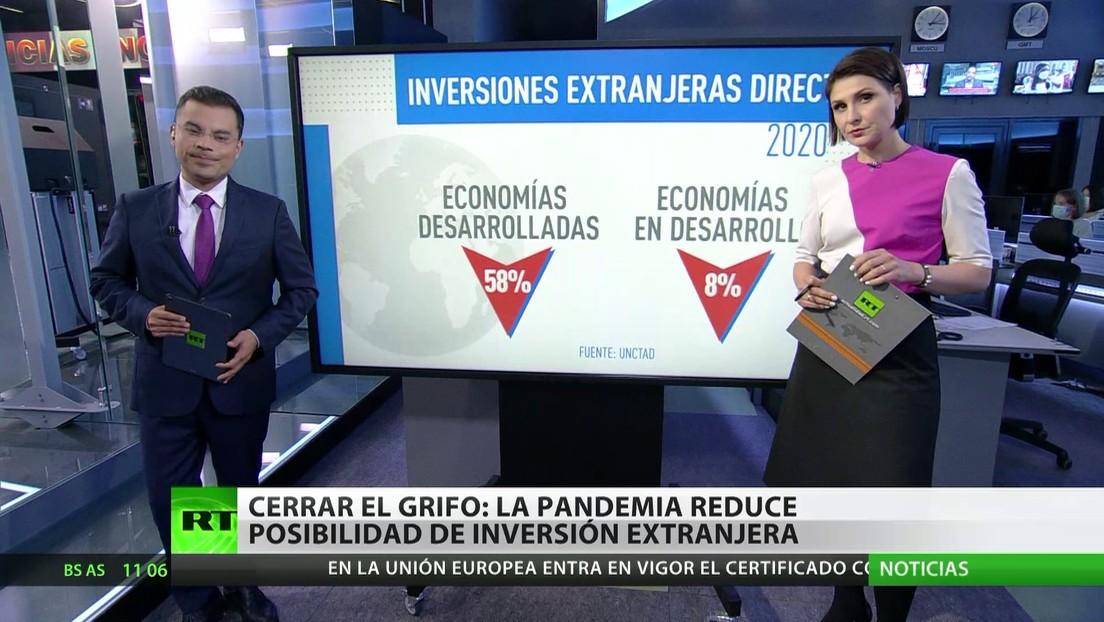 La pandemia reduce los volúmenes de inversión extranjera