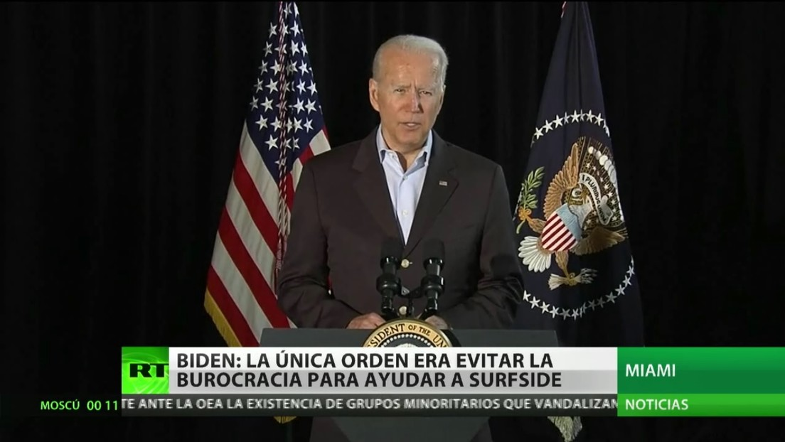 Joe Biden señala que hasta el momento no hay pruebas contundentes sobre las causas del derrumbe parcial de un edificio en Florida