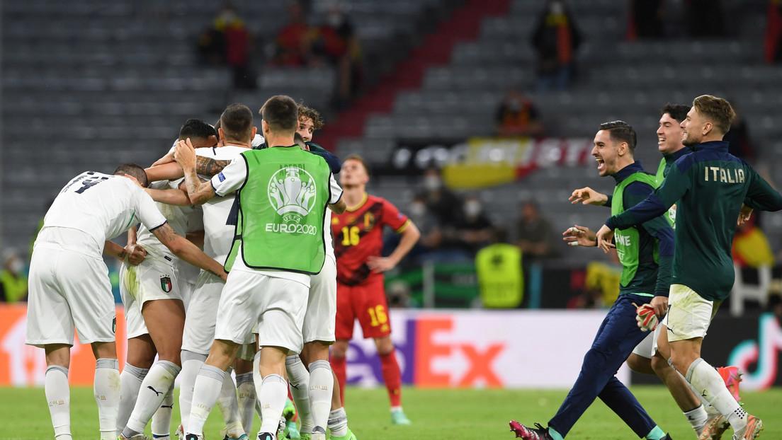 Italia gana a Bélgica 2-1 y pasa a las semifinales de la Eurocopa 2020
