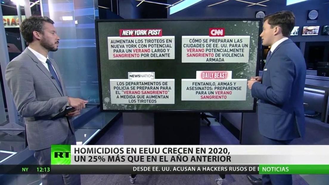 Homicidios en EE.UU. crecen en 2020, un 25 % más que en el año anterior