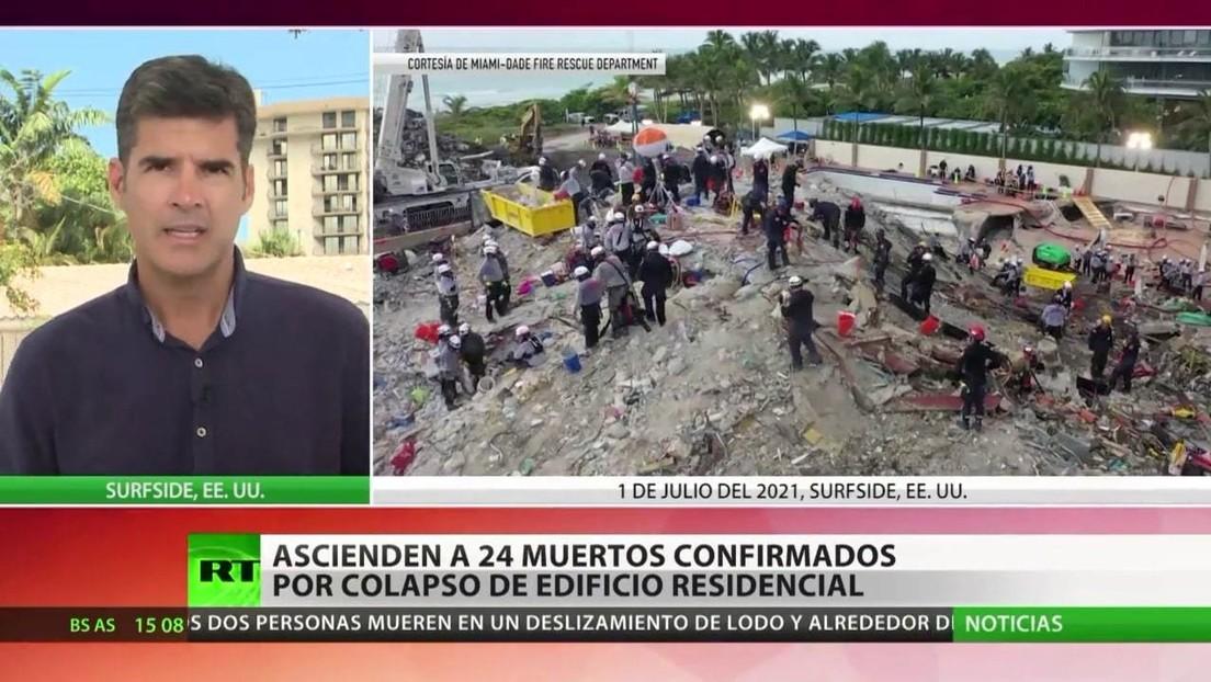 Historia de un milagro: algunos residentes del edificio colapsado en Florida no estaban en casa en el momento del derrumbe
