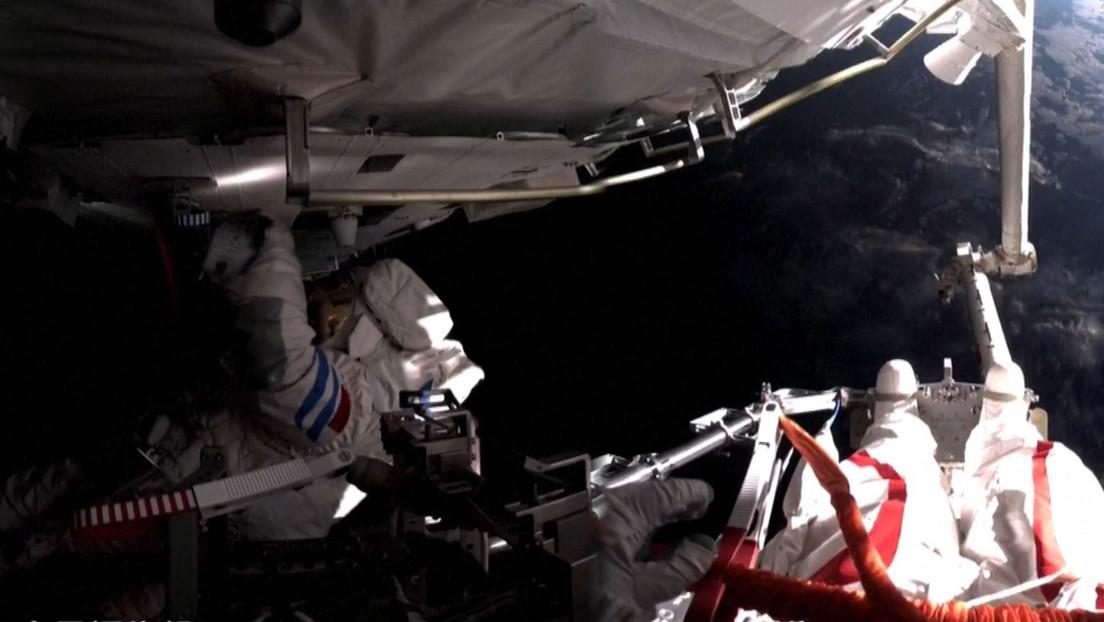 Dos taikonautas realizan la primera caminata espacial desde la nueva estación china Tiangong (VIDEO)