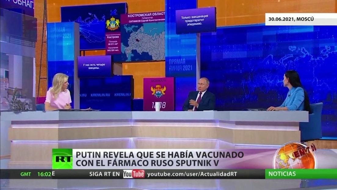 Putin aborda la política internacional y la pandemia en su 'Línea directa'
