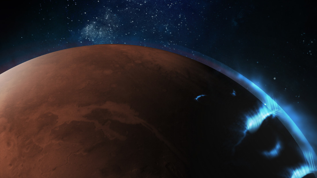 FOTOS: El orbitador de los Emiratos Árabes Unidos capta imágenes de auroras discretas en Marte