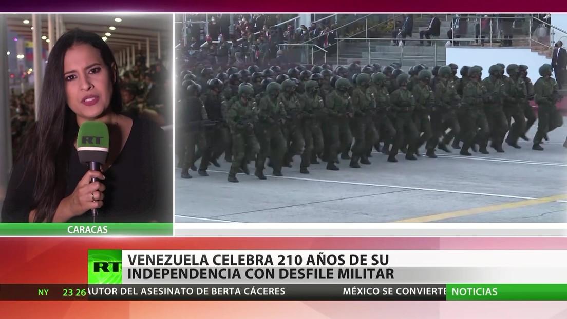 Venezuela celebra los 210 años de su independencia con un desfile militar
