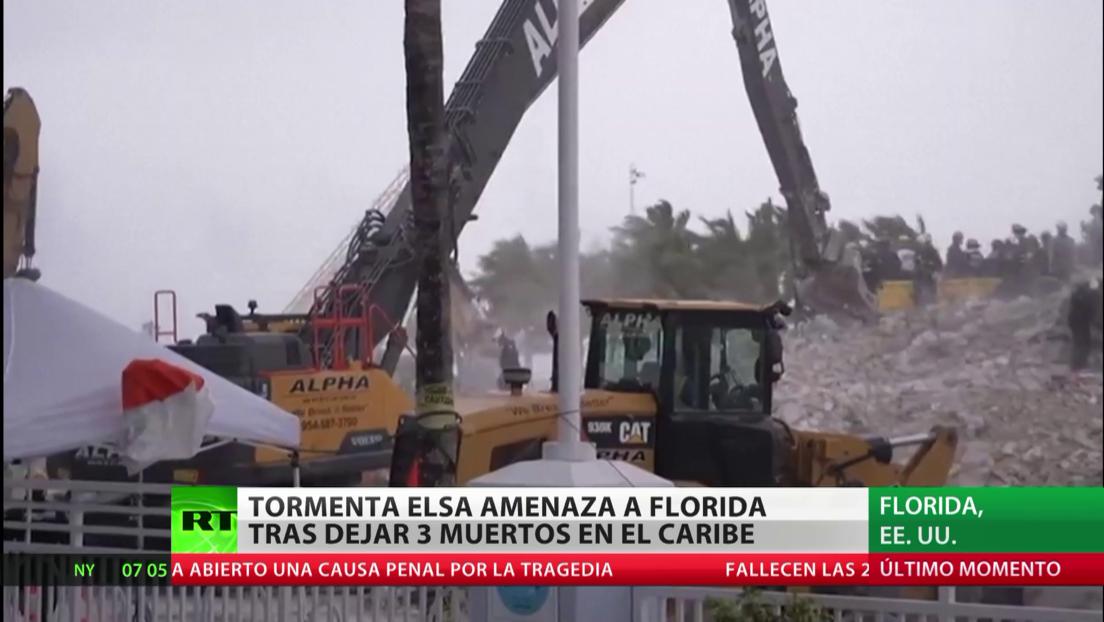 Tormenta Elsa amenaza a Florida tras dejar tres muertos en el Caribe