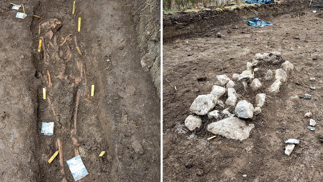 Arqueólogos suecos descubren esqueletos de bebés gemelos en tumbas vikingas