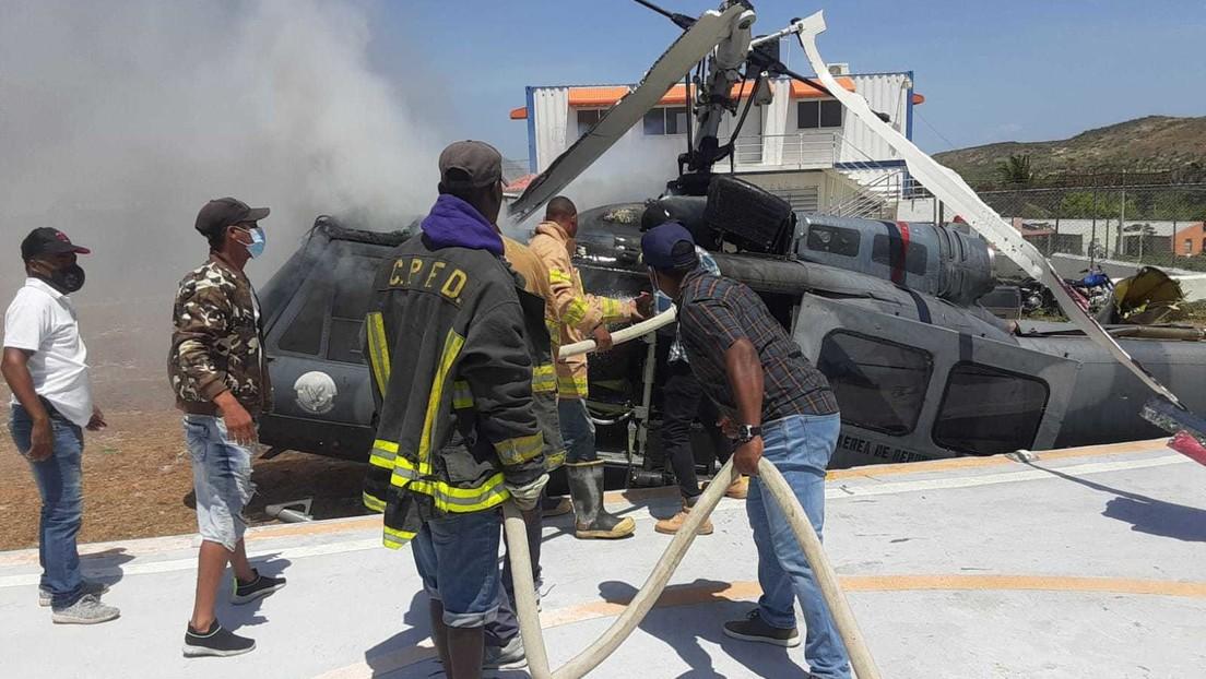 Un avión de la fuerza aérea dominicana que iba a reforzar la frontera con Haití sufre un accidente y se precipita a tierra