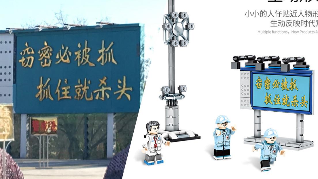 """""""Aquellos que roben secretos serán decapitados"""" advierte una pieza de un 'LEGO chino' sobre el programa espacial de Pekín"""