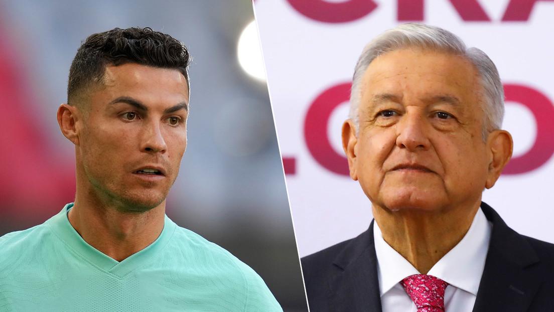 """""""Ayuda más que muchos tomos sobre nutrición"""": López Obrador aplaude el gesto de Cristiano Ronaldo de retirar dos botellas de Coca-Cola"""