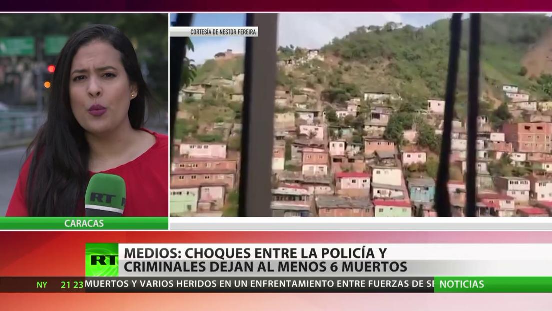 Al menos seis muertos en enfrentamientos entre grupos criminales y la Policía en la capital de Venezuela