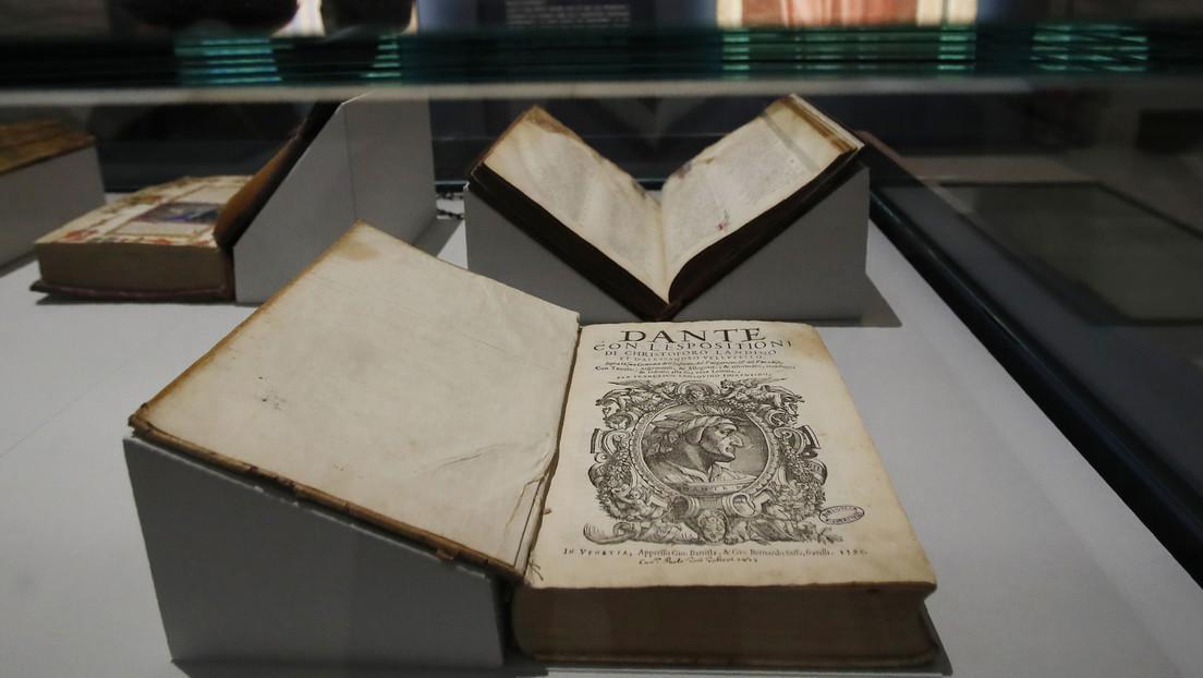 Una monja descubre manuscritos del poeta italiano Dante Alighieri