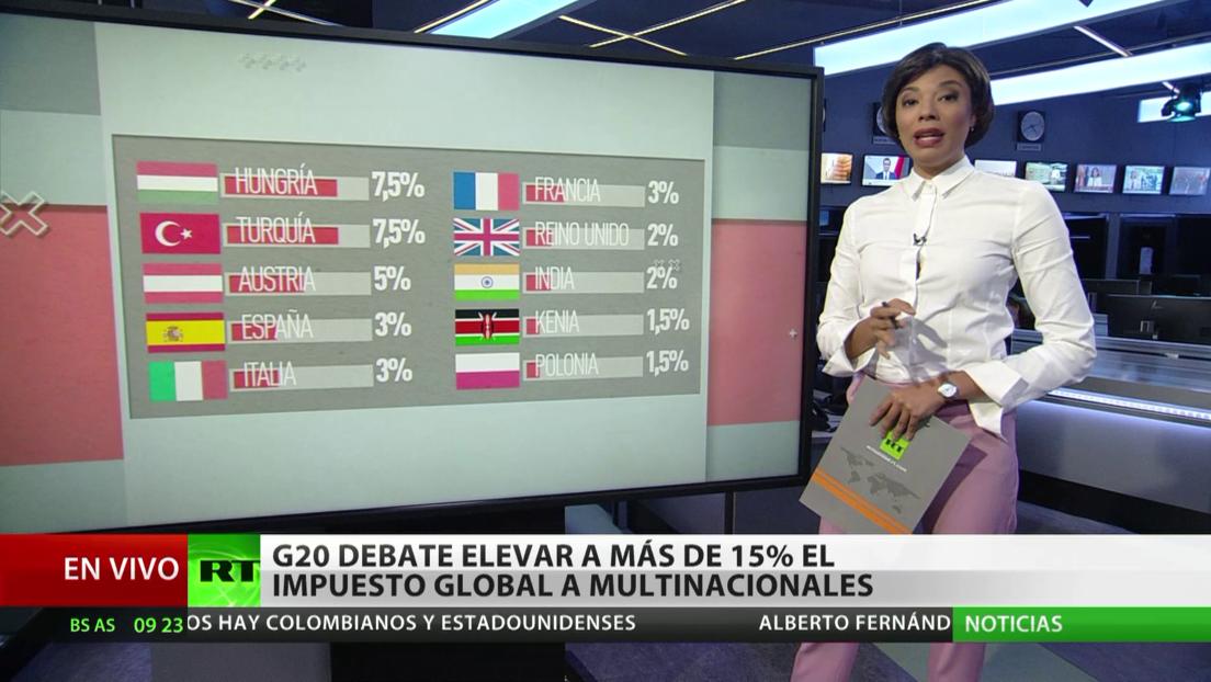 Miembros del G20 debaten elevar a más del 15 % el impuesto global a las multinacionales