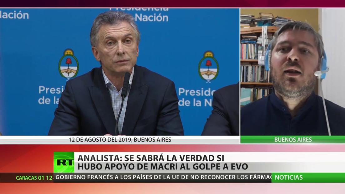 Experto: tarde o temprano se sabrá la verdad sobre si Macri apoyó el golpe de Estado en Bolivia