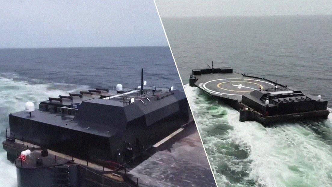 VIDEO: Musk muestra la nueva plataforma robótica de SpaceX para aterrizaje de cohetes en el mar