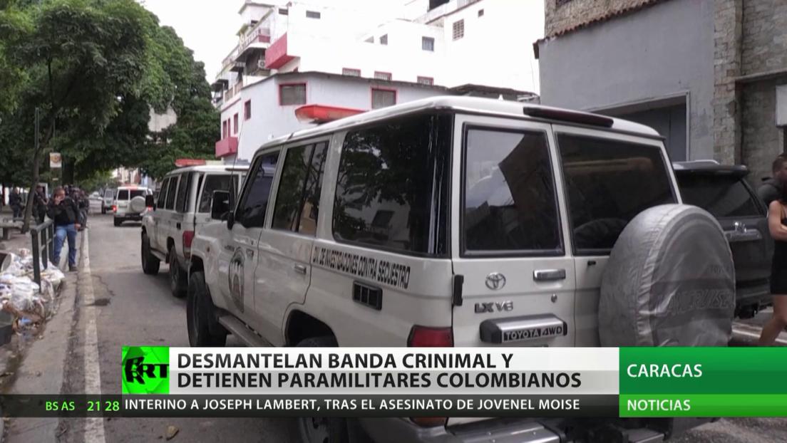 Desmanelan una banda criminal y detienen paramilitares colombianos en Venezuela