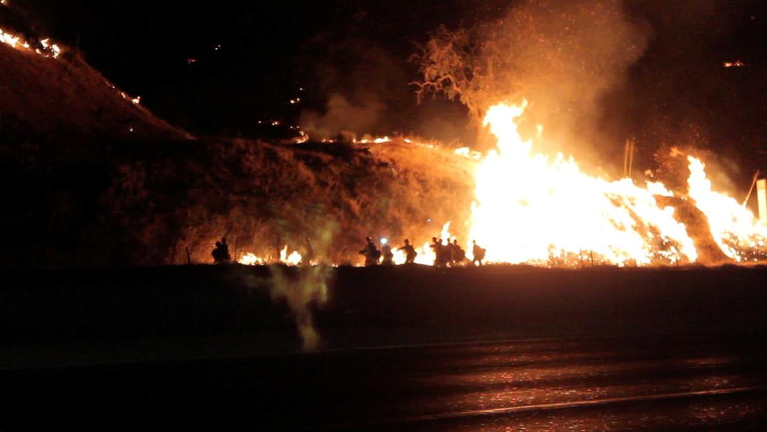 FOTOS: Una ola de incendios azota el oeste de Estados Unidos