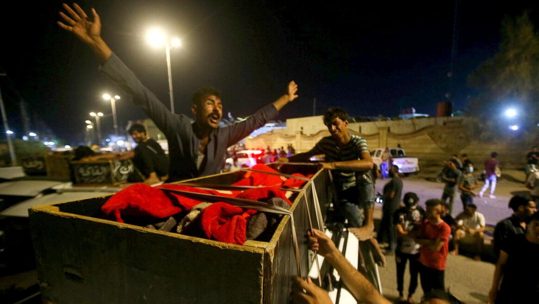Al menos 50 muertos y decenas de heridos tras un incendio en una sala para enfermos de covid-19 en un hospital de Irak