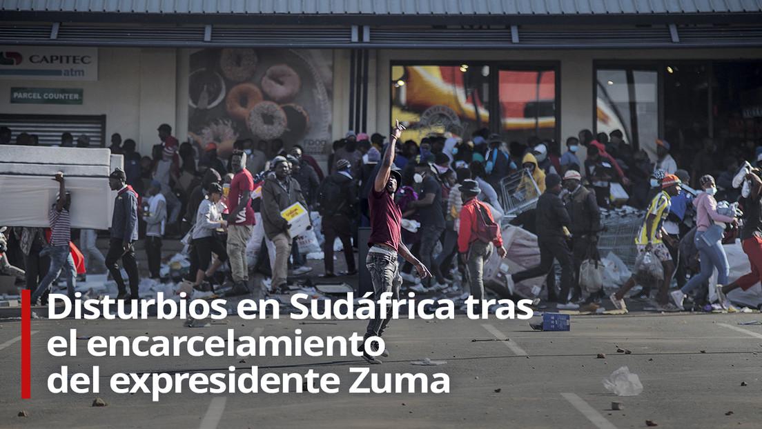 VIDEO: Disturbios en Sudáfrica tras el encarcelamiento del expresidente Jacob Zuma, de los que se reporta ya una treintena de muertes