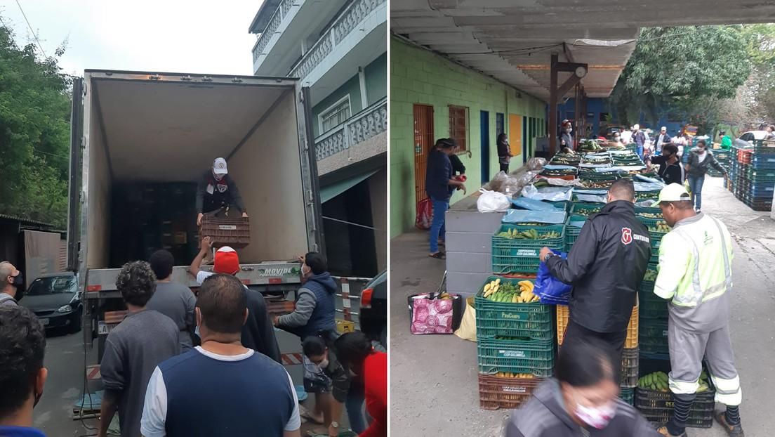 Cómo una cooperativa de quilombolas logró mantener sus ingresos en pandemia distribuyendo alimentos en una favela de Sao Paulo (VIDEO)