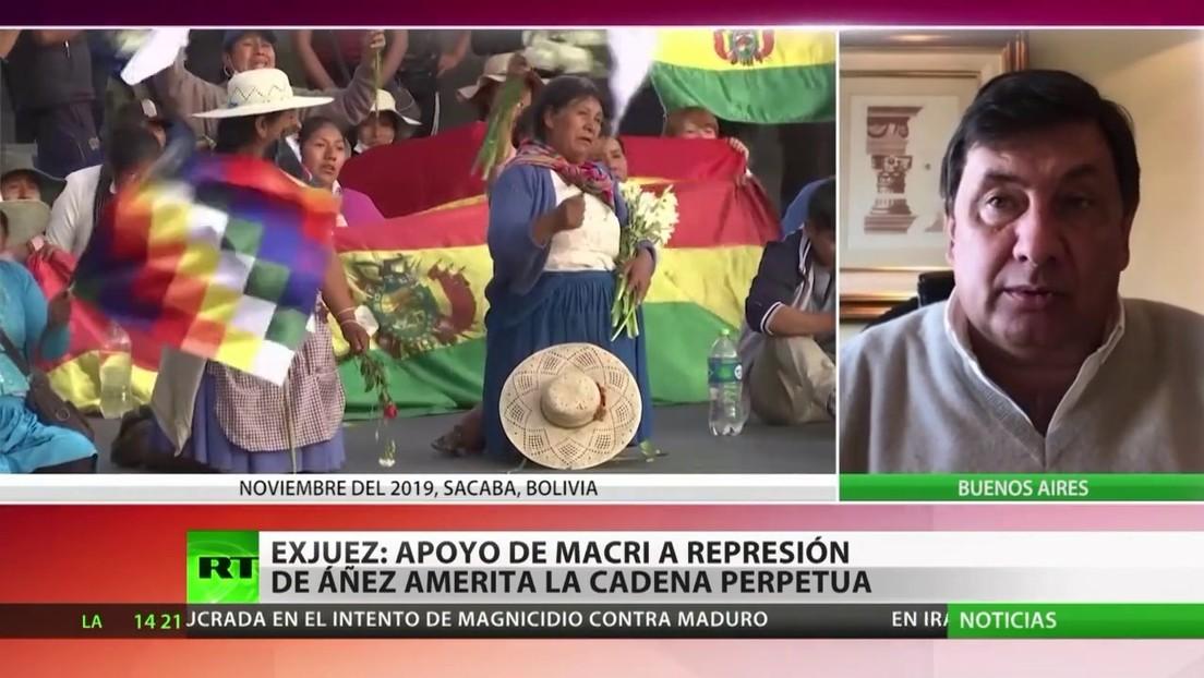 Exjuez argentino: El apoyo de Macri a la represión de Áñez en Bolivia amerita la cadena perpetua