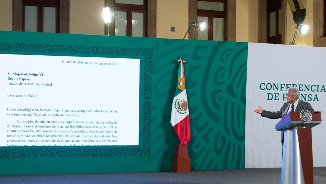 """López Obrador reprocha a España su falta de respuesta a la carta sobre los agravios cometidos durante la Conquista: """"Les faltó humildad"""""""