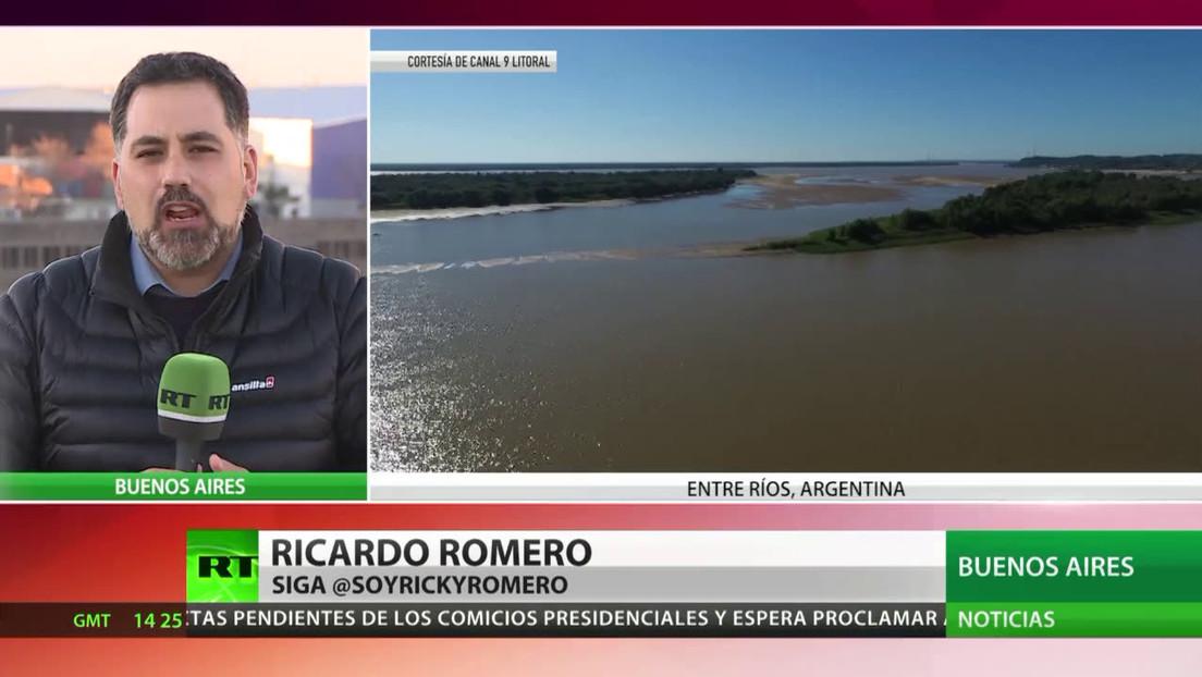 Un descenso histórico del nivel del agua en el río Paraná preocupa a Argentina