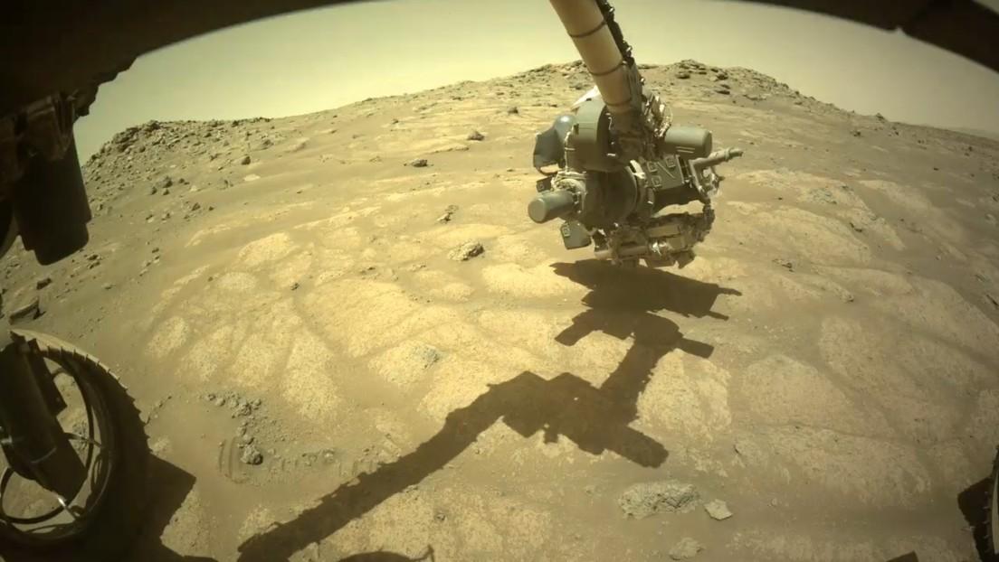 """El róver Perseverance de la NASA capta una formación rocosa única en el """"antiguo lecho de un lago"""" en Marte"""