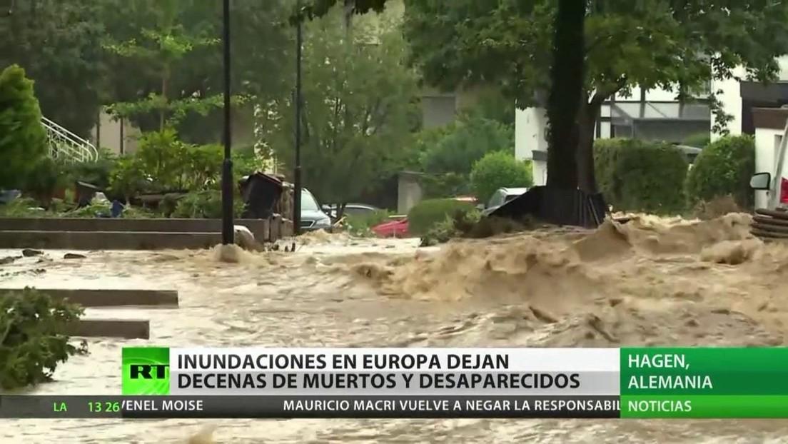 Inundaciones en Europa dejan decenas de muertos y desaparecidos