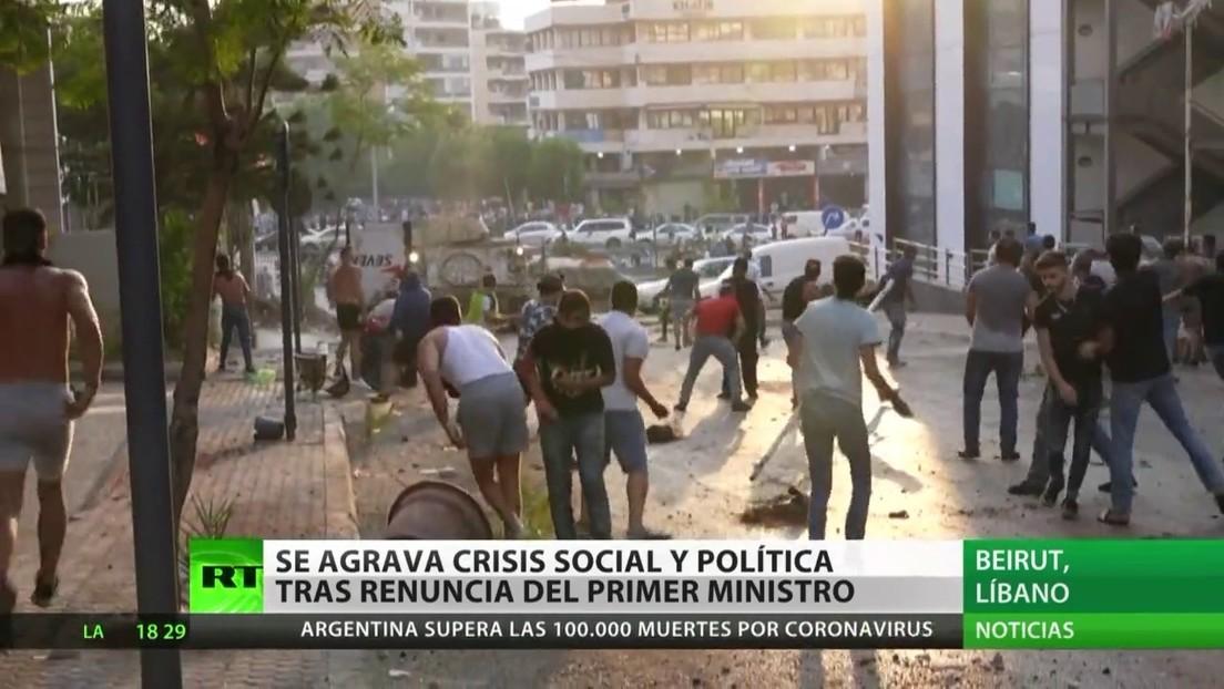 Se agrava la crisis social y política en el Líbano tras la renuncia del primer ministro