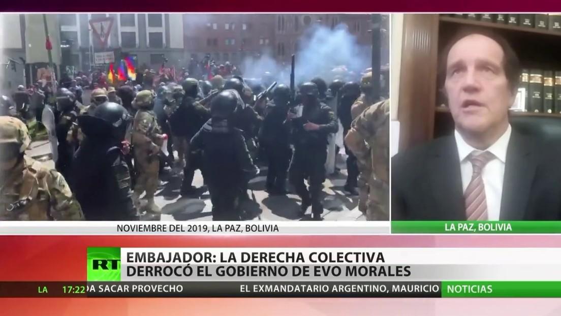 Embajador de Argentina en Bolivia: La derecha colectiva derrocó al Gobierno de Evo Morales