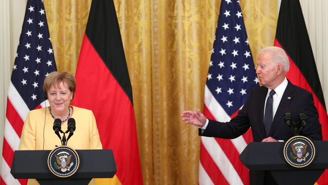 """Biden y Merkel enfatizan la amistad entre EE.UU. y Alemania pese a sus """"diferentes evaluaciones"""" sobre el Nord Stream 2"""