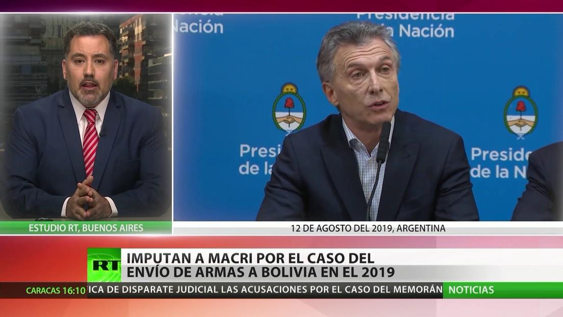Imputan al expresidente argentino Mauricio Macri por el caso del envío de armas a Bolivia en 2019
