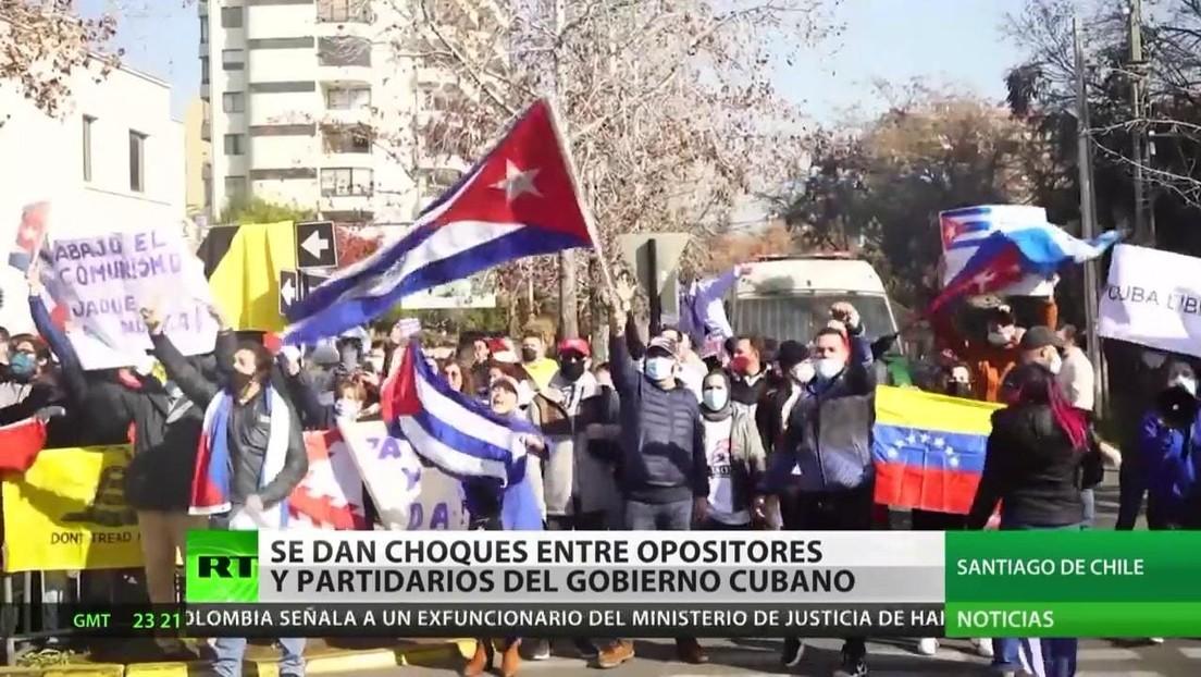 Choques en Chile entre opositores y partidarios del Gobierno cubano