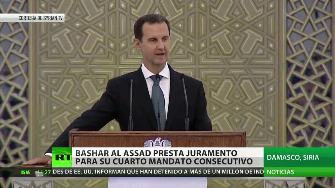 Bashar al Assad presta juramento para su cuarto mandato presidencial