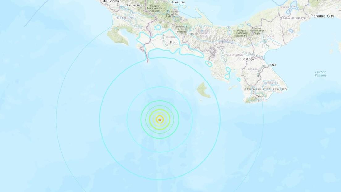 Un sismo de magnitud 6,1 se registra frente a las costas de Panamá