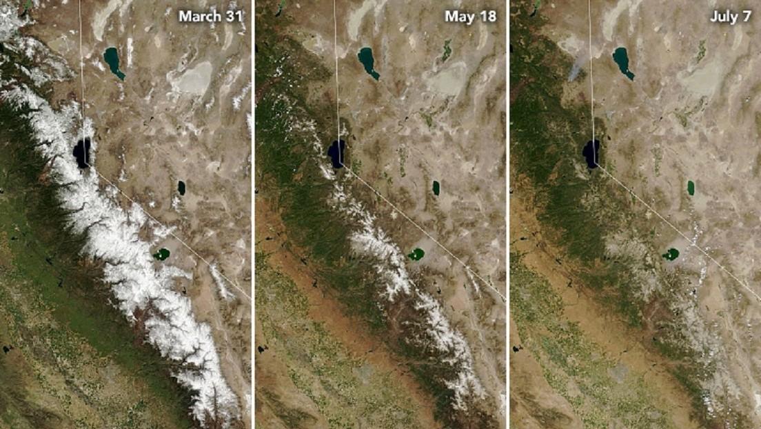 Fotos de la NASA muestran los devastadores efectos de la sequía en California