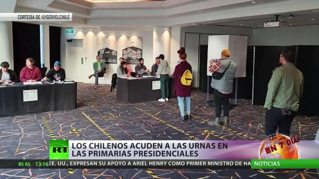 Los chilenos acuden a las urnas en las primarias presidenciales