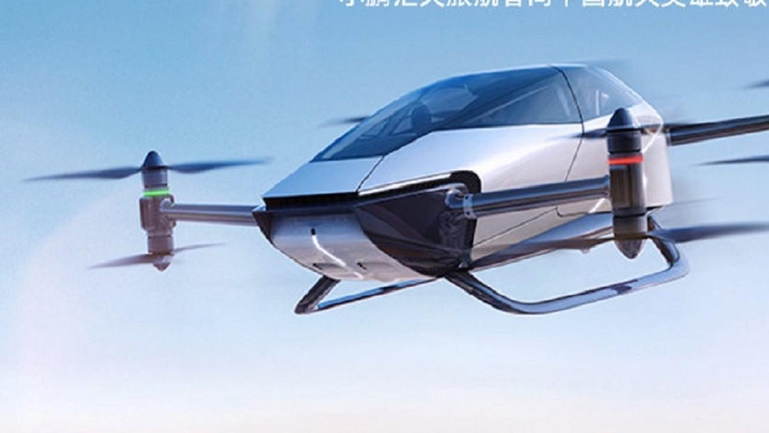 VIDEO: Lanzan en China un vehículo volador inteligente de quinta generación impulsado por energía eléctrica