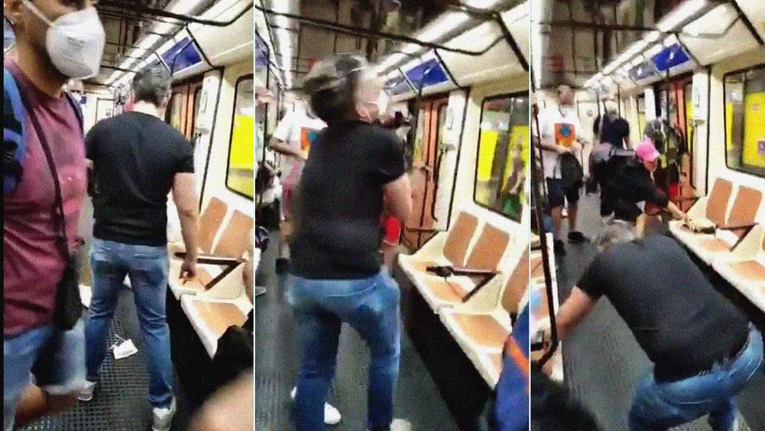 VIDEO: Un sanitario pierde un ojo tras ser agredido por un hombre al que pidió ponerse la mascarilla en el metro de Madrid