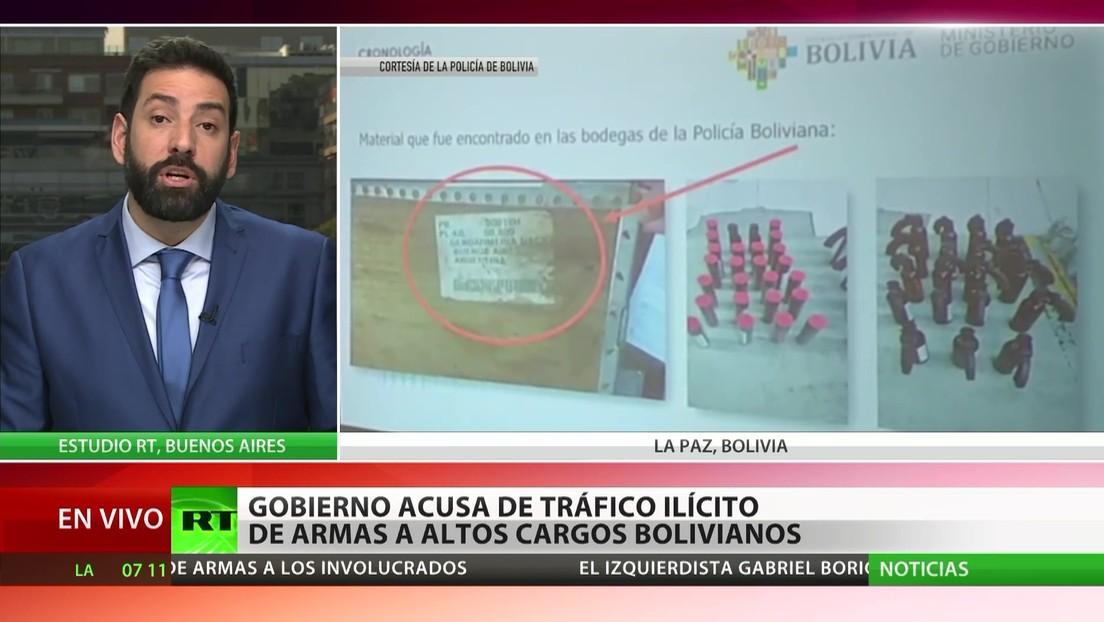 Bolivia: El gobierno acusa de tráfico ilícito de armas a altos cargos del país